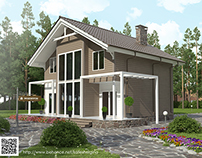 Визуализация дома из профилированного бруса