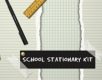 Digital Scrapbooking Stationary Kit