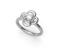 Lucky clover diamond ring