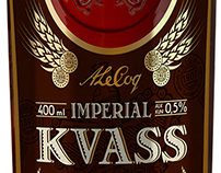 Kvass label placing in PS