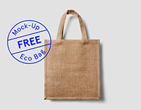 Free Eco Bag Mock-Up