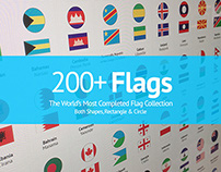 200+ Flags From Around The World | Flat Vector Circle R