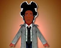 Basquiat plush doll www.katkiller.com.br