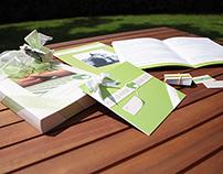 Coordinato grafico di nozze verde mela