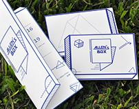 Allen's Box 展覽邀請卡.明信片設計