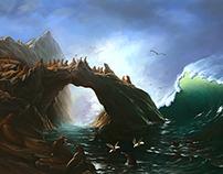 Albert Bierstadt - Farallon Islands Study