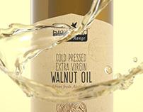 Bio Island Walnut Oil 3D Rendering