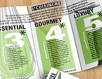 Leaflet for La Cuisiniere