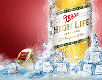 Miller High Life Poster - Time Lapse