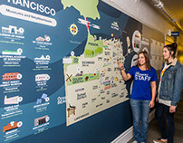 Usa Hostels - San Francisco Map Design