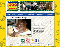 Fictional remake of Zoo Atlanta website