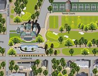 Golf Club Campus Map Design