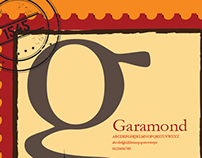 Garamond Type Specimen Poster