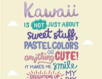 Lettering Exhibit: Kawaii In Manila