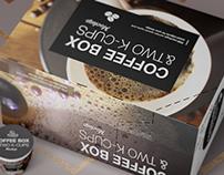 2 K-Cups/ Coffee Box Mockup