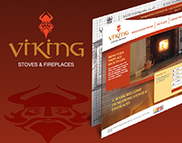 Viking Stoves & Fireplaces | Website Design