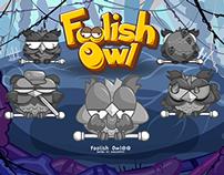 Foolish Owl Wallpaper Design