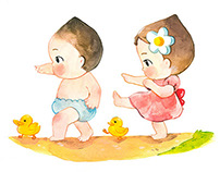 Baby Illustrations for a Children's Book