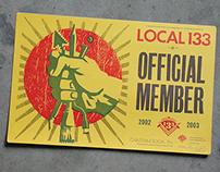 Local 133 Member Card
