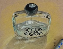 Realistic Perfume Drawing