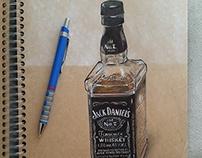 Realistic Jack Daniel's Drawing