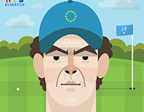 Rory McIlroy Ryder cup Illustration