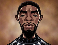 Black Panther - Vector Art / Caricature
