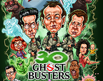 Ghostbusters 30th Anniversary caricature