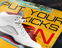 Air Jordan 5 Fire Red by Worldbox