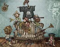 Ilustracion para: Cuentos para Niños con Barba