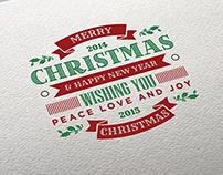 Christmas Retro Style Typography