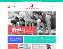 Website design for healthandfitnessdepot.com