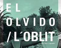 Afiche Exposición el olvido/lóblit