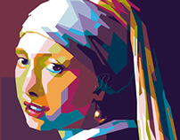 Girl with a pearl earring in WPAP