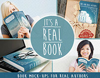 Free Photoshop Book Mock-Ups -It's A Real Book