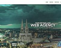 One Page Minimal Web Agency