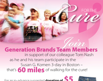 Race for the Cure E-mail Announcement
