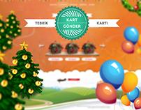 Gift Card Sender / Hediye Kartı Gönderici Web Design