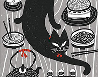 Print inspired cat