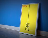 KILL BILL — THE MOVIE (Typography Poster)