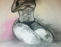 charcoal pastel