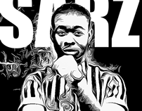 Monochrome Digital Imagery of SARZ aka BEATSBYSARZ