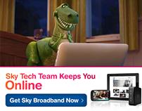 Sky Broadband : Ad Campaign Mock