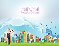 Flat chat Re design Concept Mobile App