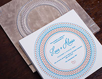 LETTERPRESS + HOTFOIL WEDDING INVITATION