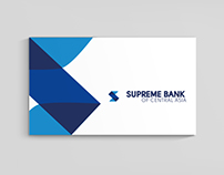 Corporate identity and logo for SUPREME BANK