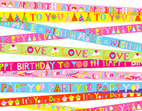 Ribbon Tape (Birthday Giftwarp/Bag for USA)