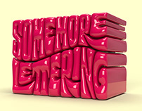 SOME 3D LETTERING