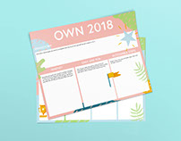 Own 2018 Goal Planning Worksheets