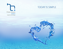 """""""Clean water system""""  logotyp/identification"""